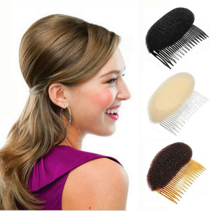 YouMap Bump Up Volume Hair Inserts Comb Hair Styling Retro Disc Tool Bumpits Bouffant Ponytail Hair Accessories A21R5C