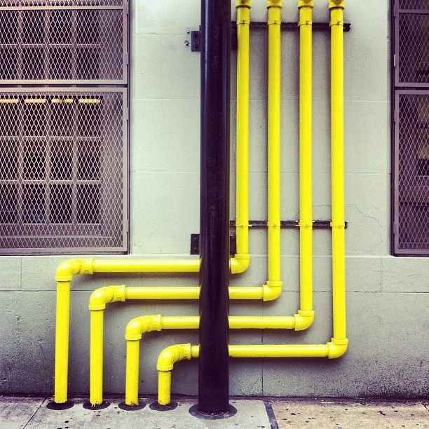 Pipes yellow