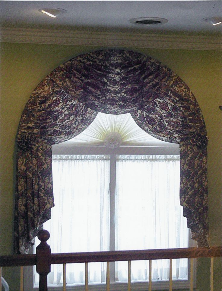 and windows on for images decorative drapes arch idea window rods best treatment interiormallcom curtains eyebrow curtain ideas showing arched