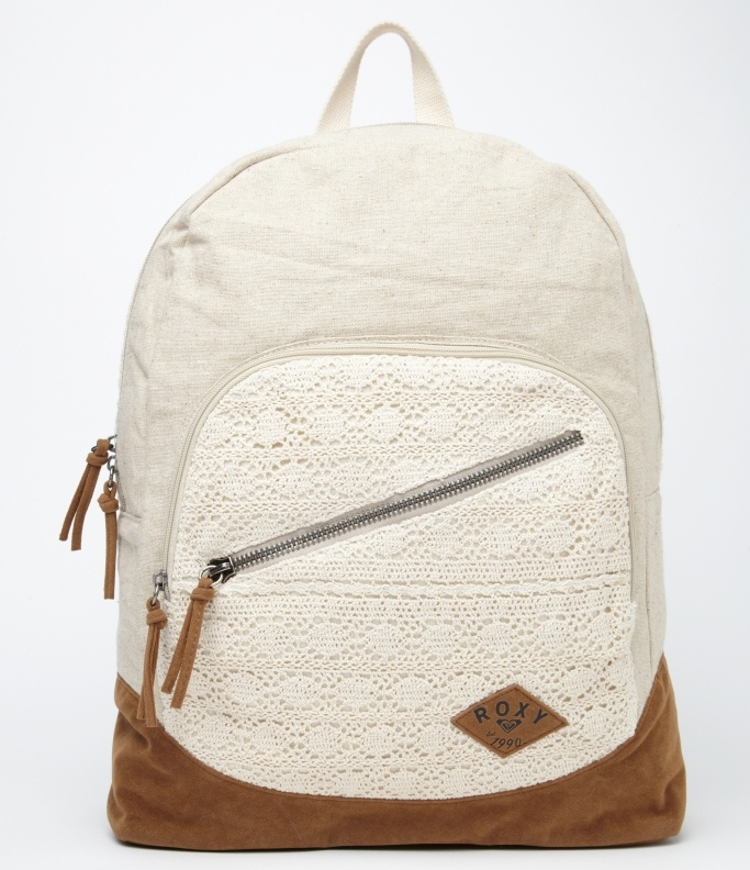 Lately backpack in pearl lace - Roxy. SO CUTE.