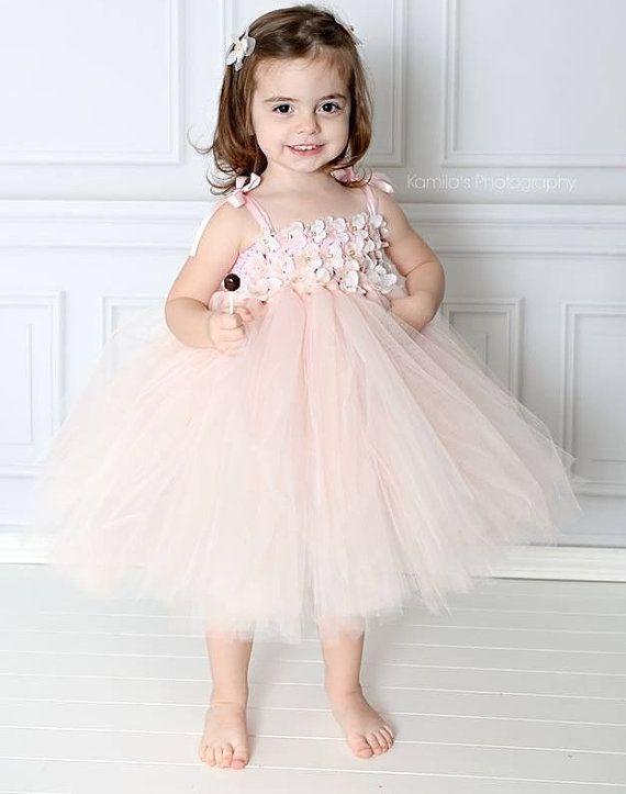 aa8fdd0b036a BLUSH FLOWER GIRL DRESS - Sanmaz Kones
