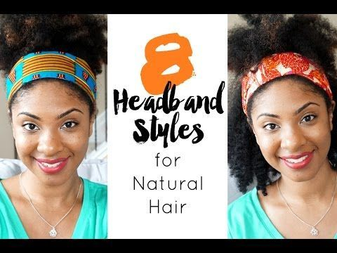 How to style natural hair using satin-lined, African print headbands. See natura...