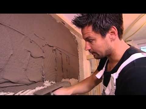 Eigen Huis & Tuin |Afl. 25| Stucen muur badkamer - YouTube