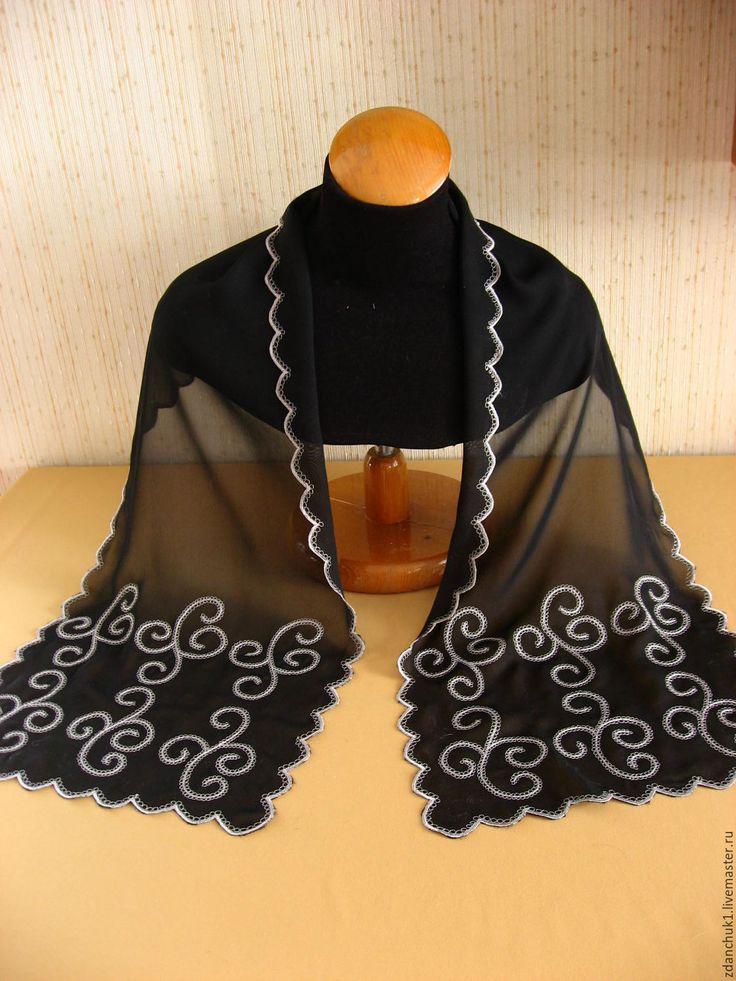 """Купить Шарф """"Черный турмалин"""". - купить шифоновый шарф, шарф шифоновый купить"""