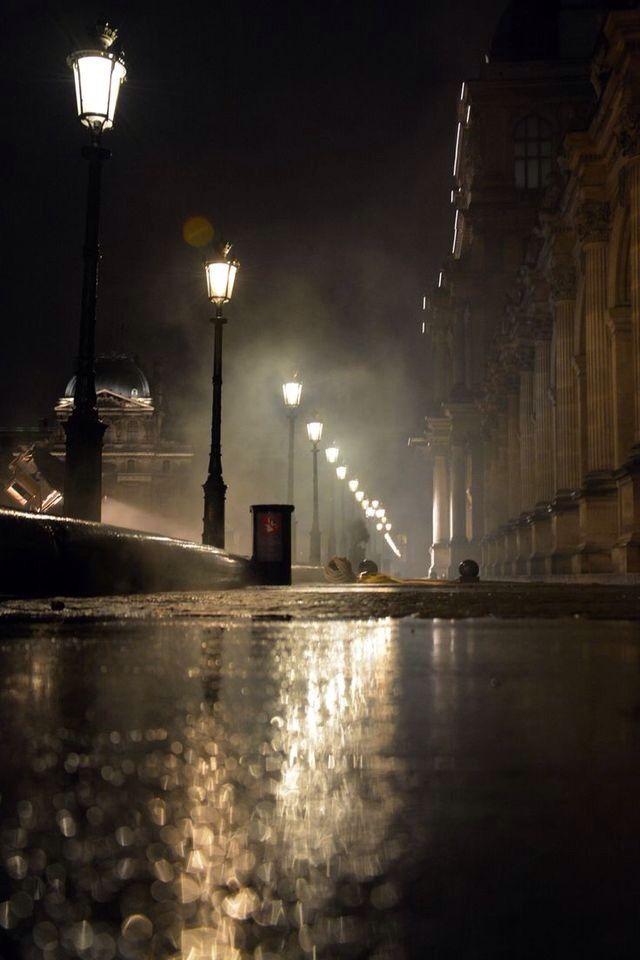 Rainy night.