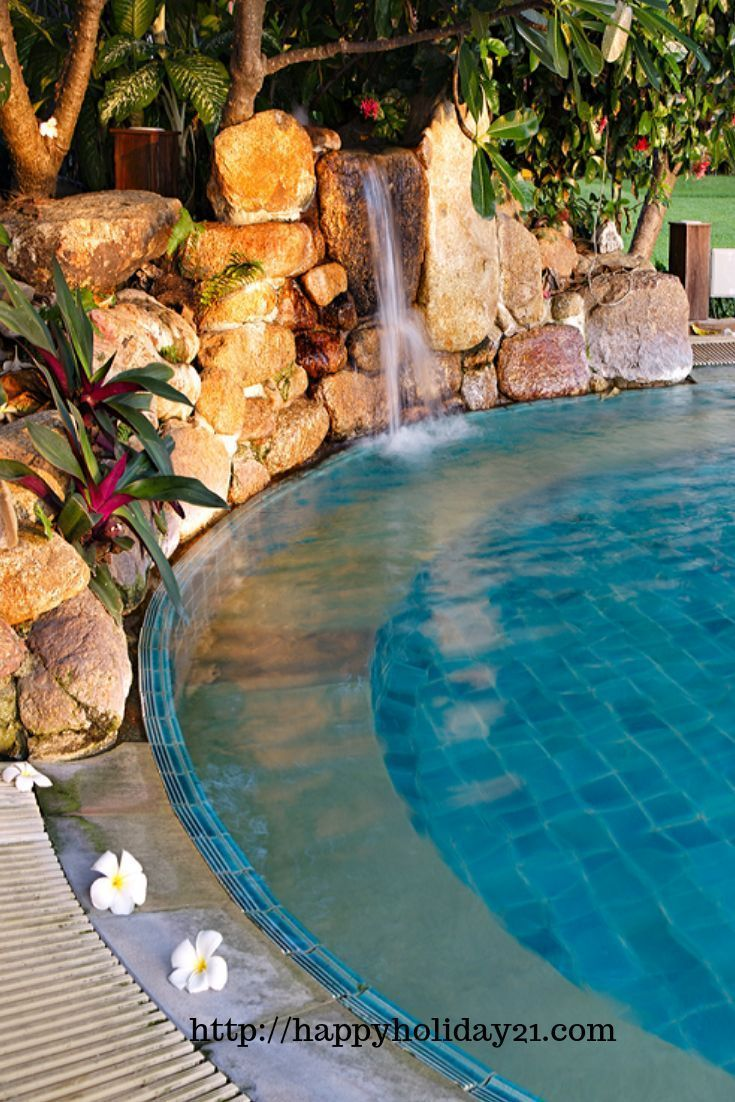 Luxury Pools With Waterfalls Backyard Pool Landscaping Pool