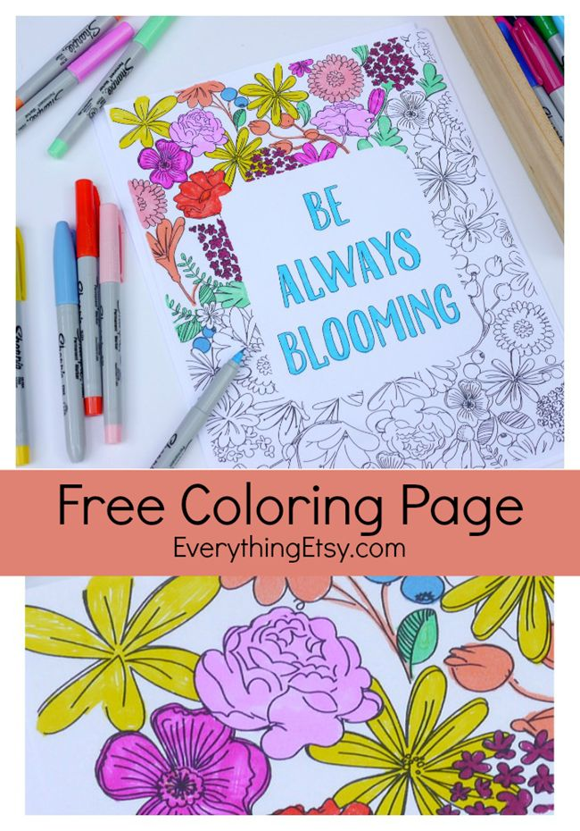 looking for a new free printable coloring page i created a pretty blooming page just for you print out a few and share our last post of 15 printable