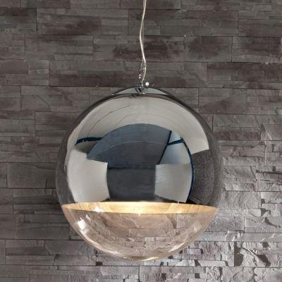 h ngelampe korona glas chrom 30cm diese designer h ngelampe ist inbegriff der 70er ein. Black Bedroom Furniture Sets. Home Design Ideas