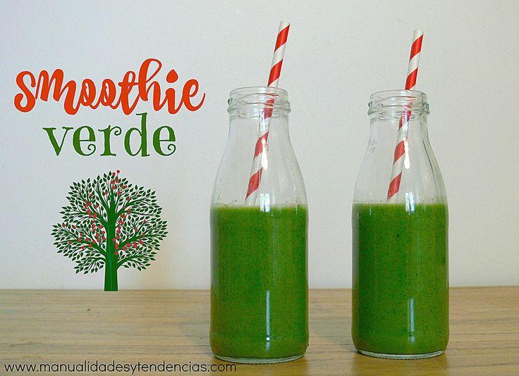 #Smoothie verde desintoxicante www.manualidadesytendencias.com #recetassanas #greensmoothie #smoothieverde #batidoverde