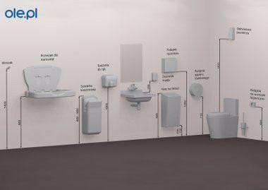 Wysokość montażu wyposażenia toalety
