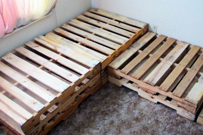 How to Upcycle a Pallet into a Couch | Brit + Co.