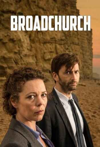 Olivia Colman as Detective Sgt. Ellie Miller, and David Tennant in the role of Detective Inspector Alec Hardy, in ITV's 'Broadchurch'