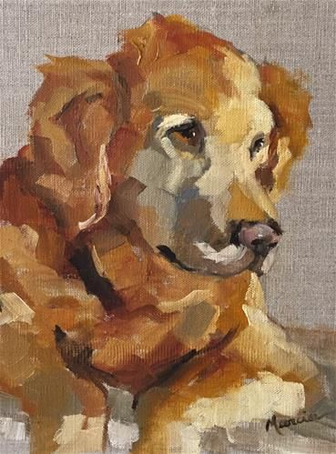 "Daily Paintworks - ""Harvey"" - Original Fine Art for Sale - © Marcia Hodges"