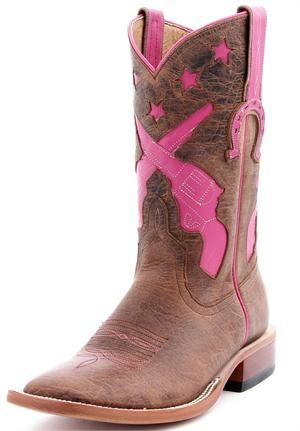 Anderson Bean Pink Pistols HorsePower Cowboy Boots