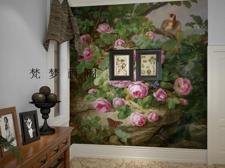 Бесплатная доставка американский стиль страна птица карта спальня фоне стены настенные обои купить на AliExpress