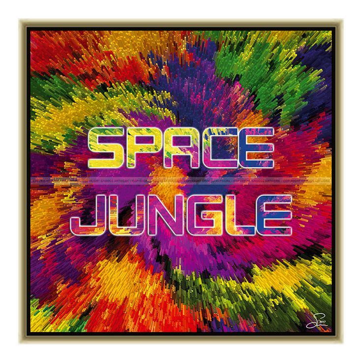 Space jungle (50 X 50 cm) – Grooss Artwork