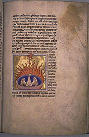 Folio 56 recto of the Aberdeen Bestiary has a miniature of the Phoenix