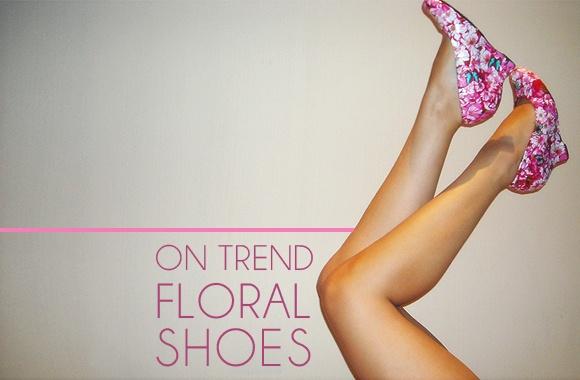 DIY floral decoupage shoes.
