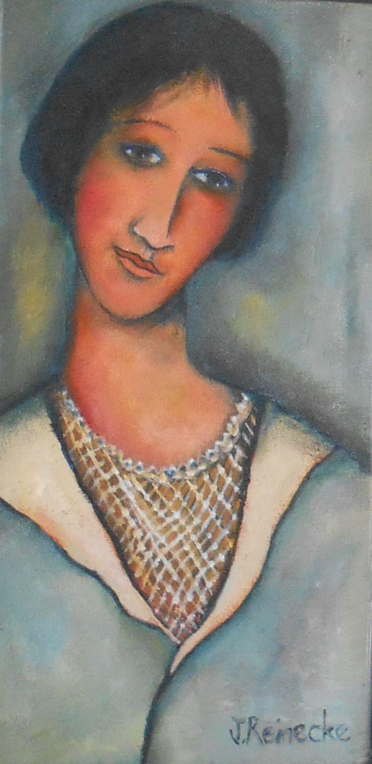 Portrait of a lady.oil on canvas.portraitpainting.