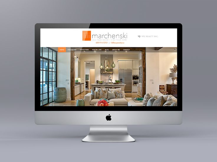 New website for Realtor Lili Marchenski. We don't often use orange, but we are please with the results. The website is an extension of Lili's staging, design and building experience she brings to her clients.