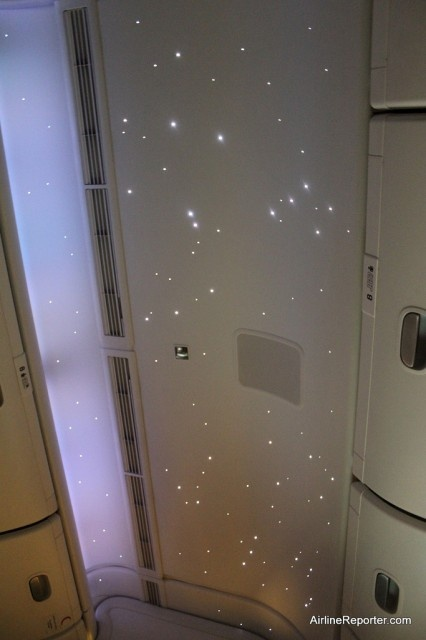 Emirates Airline Business Class looks like the night sky