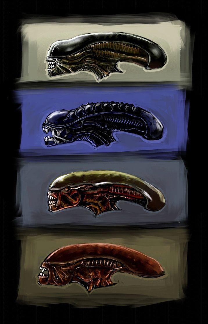 Aliens heads by harry-osborn