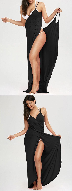 Beach Maxi Wrap Slip Cover Up Dress