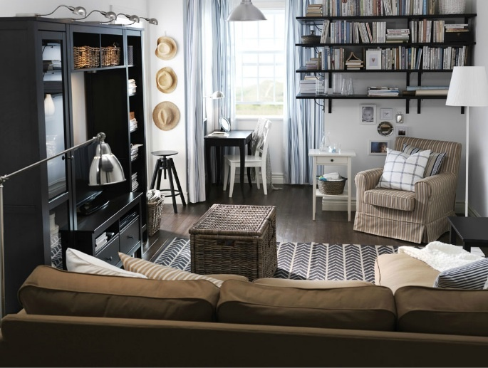 Want Ikea TV Unit Combination HEMNES Wall Bridging Shelf Living RoomSmall