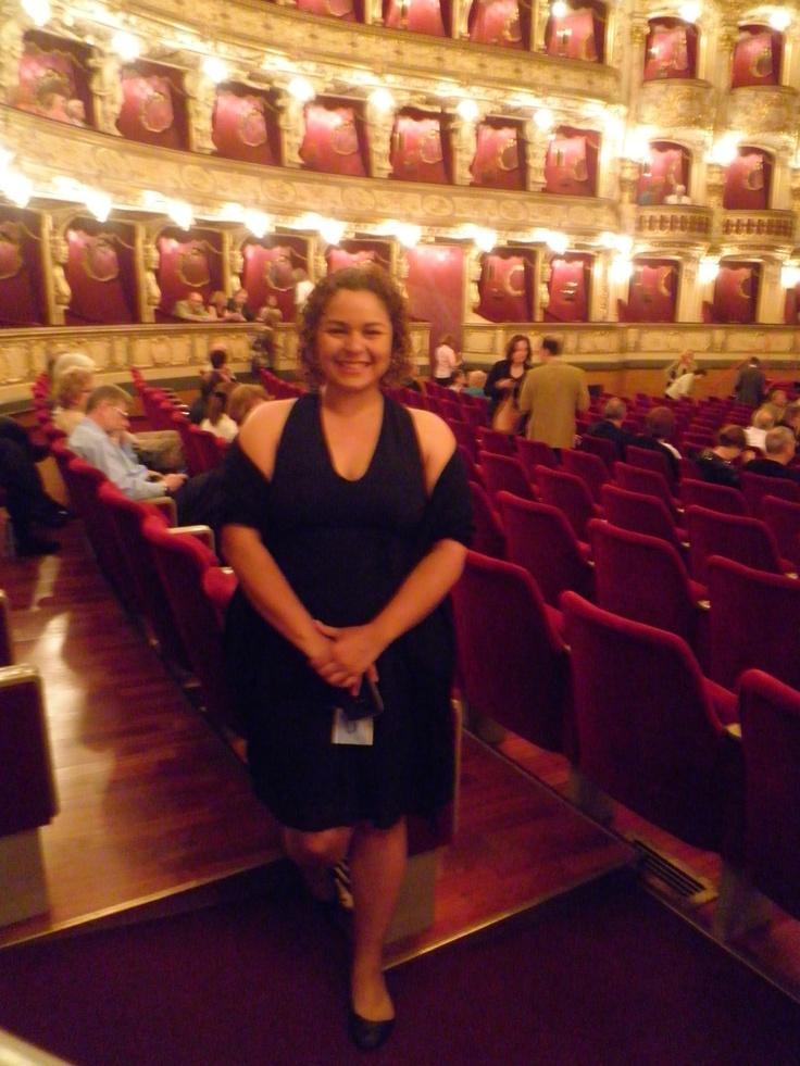 My last night in Prague, watching the Barber of Seville  Prague Opera House, Prague State Opera