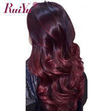 RUIYU Hair Ombre Brazilian Hair Bundles Body Wave 1b Burgundy Two Tone Ombre Human Hair Extensions Weave Bundles 99J Red NonRemy     Wholesale Priced Wigs, Extensions, And Bundles!     FREE Shipping Worldwide     Buy one here---> http://humanhairemporium.com/products/ruiyu-hair-ombre-brazilian-hair-bundles-body-wave-1b-burgundy-two-tone-ombre-human-hair-extensions-weave-bundles-99j-red-nonremy/  #wigs #humanhairextensions