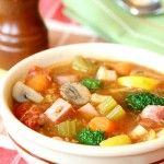 Hearty Vegetable Ham Soup - Skinny Chef