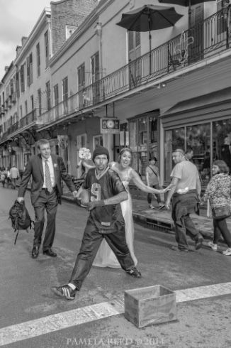 Wedding Shoes - What Not to Wear in the French Quarter at your New Orleans Wedding | Pamela Reed Photography | Wedding Photobombs