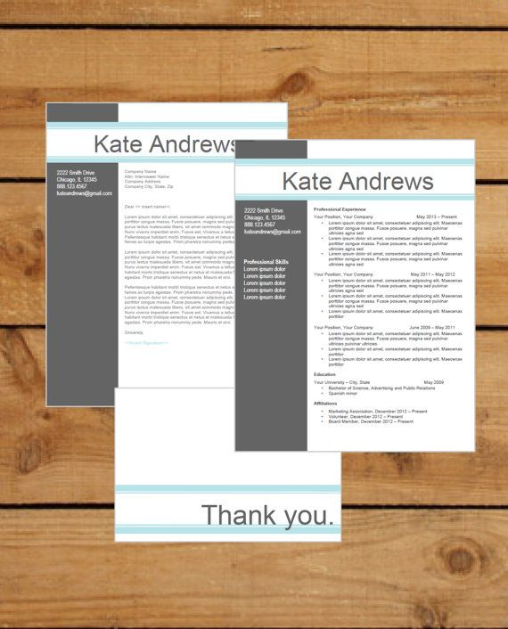 resume template instant word document download by clingdesigns - Resume Template Word Doc