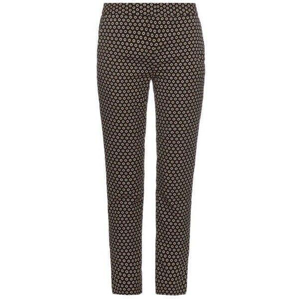 Diane Von Furstenberg Genesis trousers (240 SGD) ❤ liked on Polyvore featuring pants, capris, black print, patterned pants, diane von furstenberg, patterned trousers, print pants and diane von furstenberg pants