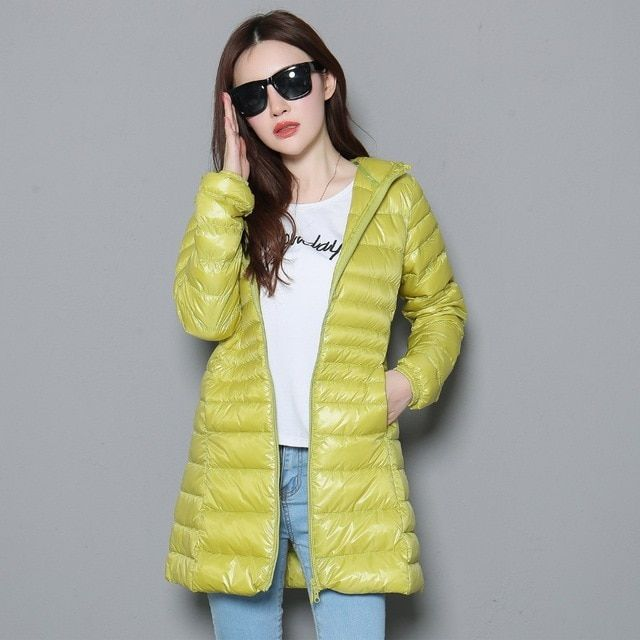 d35050c5bb1 2018 New Autumn Winter Plus Size S-7XL Down Coats Women Ultra Light White  Duck Down Jacket Hoode Windproof Outwears Female  downcoat  coat  jacket   hooded ...