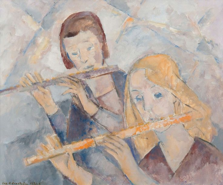 Sadness - Eva Cederström , 1973 Finnish , 1909-1995 Oil on canvas, 60 x 73 cm.