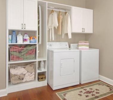 Laundry Cabinets Space Above Rod Top Loading Washer