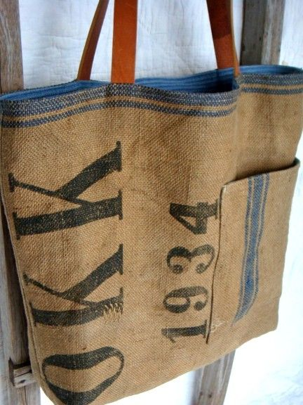 old french grain sack
