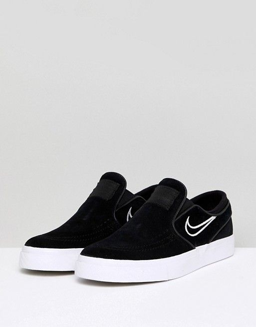 quality design fa2bf 331fe Nike SB   Nike Sb Janoski Slip On Trainers In Black