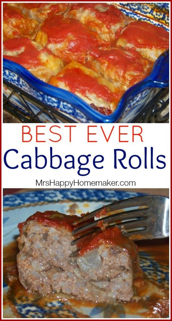 BEST EVER Cabbage Rolls.  saved in 2015 recipe file.