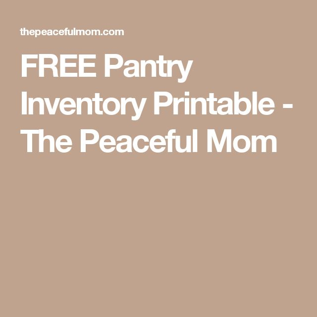 Best 25+ Pantry inventory printable ideas on Pinterest Pantry - inventory list