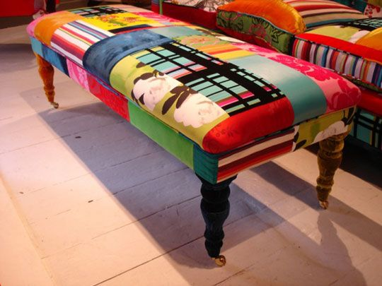 I love this for my boutique: Patchwork Sofa, Colors Patchwork, Chic Furniture, Squint Limited, Living Room, Club Chairs, Patchwork Chairs, Patchwork Furniture, Patchwork Upholstery