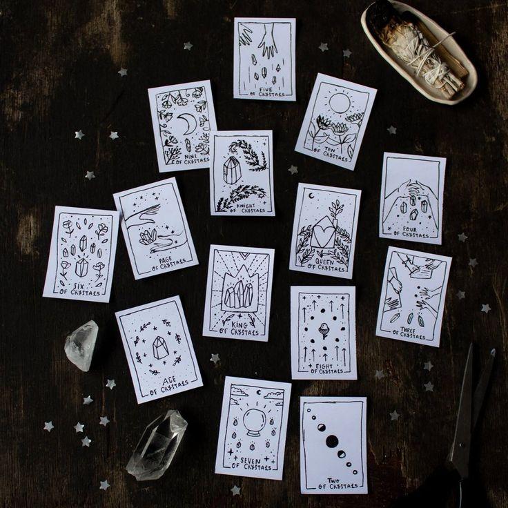 Printable tarot deck diy tarot cards tarot card decks
