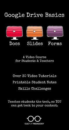 Get students writing, presenting, and collecting real evidence for their projects with the free tools found right inside Google Drive. This video course gives you everything you need to set students up to teach themselves the skills they need to use Google Docs, Slides, and Forms, without any need for you to know these tools. Perfect for flipped lessons or flipping your classroom. If you want to integrate technology into your teaching, but don't know how to get started, this is it!