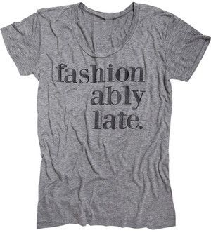 Fashionably Late Tee- Eco Grey #PinScheduler http://mbsy.co/tailwind/18956816