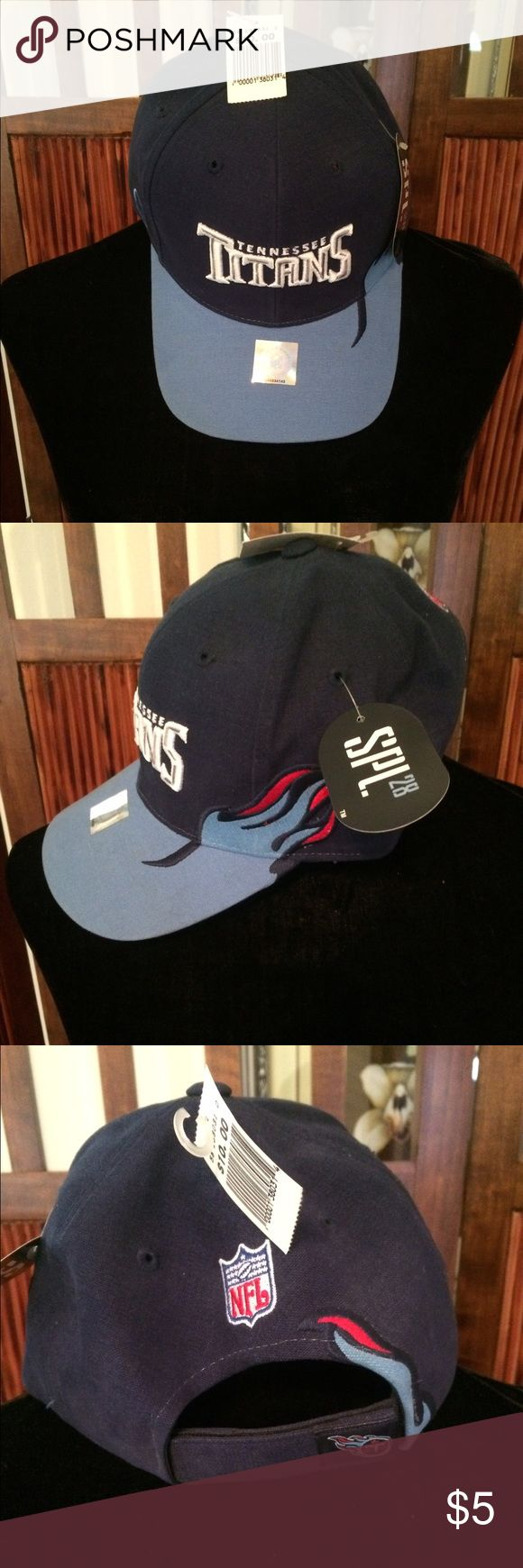 NFL Tennessee Titans Hat NWT NFL Brand Tennessee Titans Hat NWT.  Adjustable velcro strap. Unworn and comes from a smoke-free and pet-free home. Thanks for looking 😊 NFL Accessories Hats
