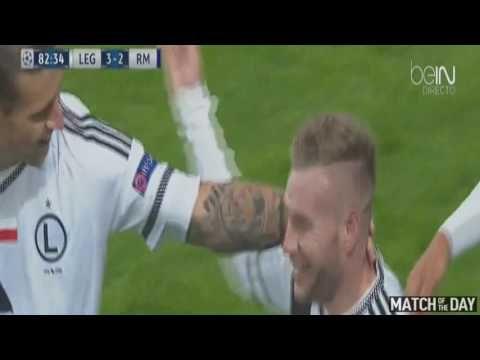 Amazing Goal Thibault Moulin Legia vs Real Madrid 3 2 Champions League 0...
