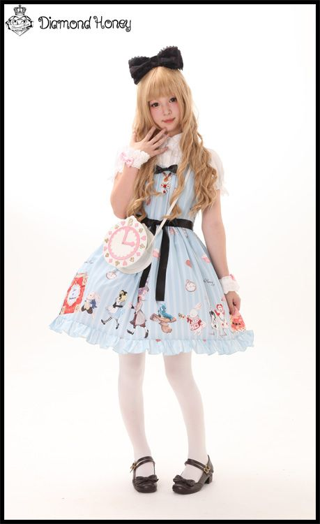 ★Last 8 HOURS LEFT★ to get Diamond Honey ~the Book of Fantasy Alice~ Lolita JSK and OP >>> http://www.my-lolita-dress.com/diamond-honey-the-book-of-fantasy-alice-sweet-lolita-jsk-and-op-dh-5
