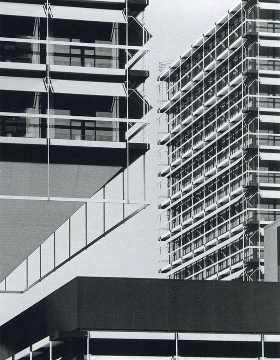Headquarters of Olivetti Deutschland, Frankfurt am Main, Germany (1968-1972) | Egon Eiermann