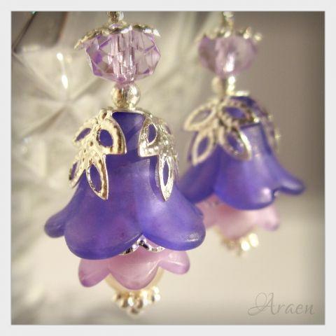 purple harebell earrings